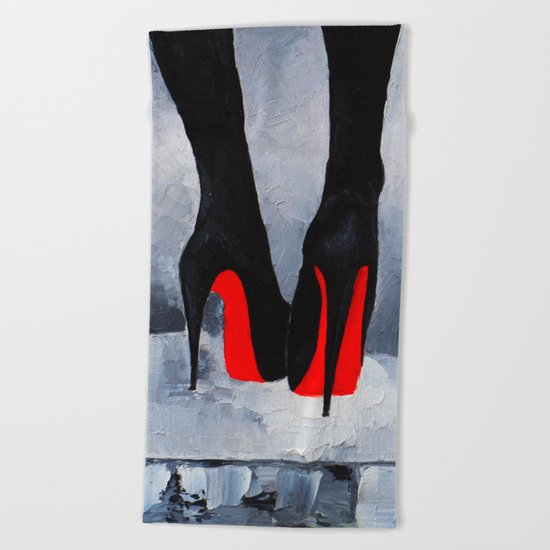 Louboutins Beach Towel