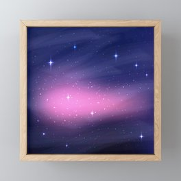 Phoenix Star in Night Galaxy Framed Mini Art Print