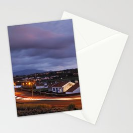 Village in twilight Stationery Cards