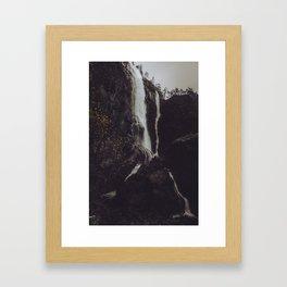 Autumn Waterfall Framed Art Print