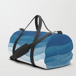 Watercolor blue waves Duffle Bag