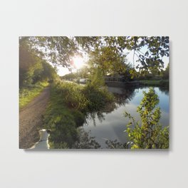 English Canalside Metal Print