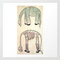 Bye Dino Art Print
