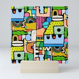 Color Block Collage Mini Art Print