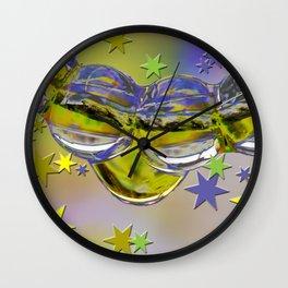 H2O and stars Wall Clock