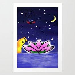 Penelope & Claire Flower Art Print