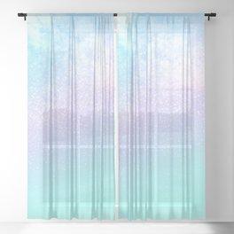 cosmic pastel rainbow sky Sheer Curtain