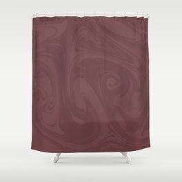 Pantone Red Pear Abstract Fluid Art Swirl Pattern Shower Curtain