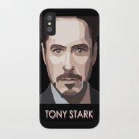 tony stark iPhone & iPod Cases featuring Tony Stark by Lany Nguyen