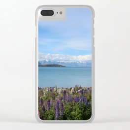 Lake Tekapo - Flower Field Clear iPhone Case