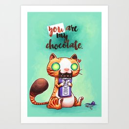Chocolate addict Art Print