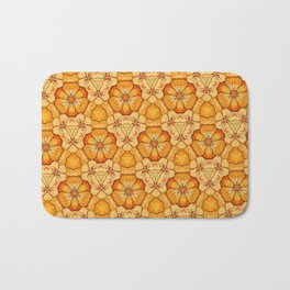 Poppy Chain Bath Mat