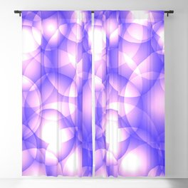 Gentle intersecting purple translucent circles in pastel shades with glow. Blackout Curtain