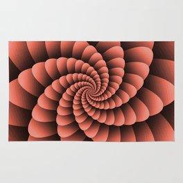 Pantone Living Coral Nautical Swirl Digital Design - Nautilus Swirl Rug