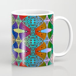 Pizza Party double rainbow gradient doodle Coffee Mug