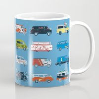 vans Mugs featuring It Would Have Been Cooler as a Van by Brandon Ortwein