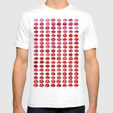 Lips Quote Mens Fitted Tee MEDIUM White
