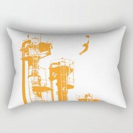 Factory Jump (orange) Rectangular Pillow