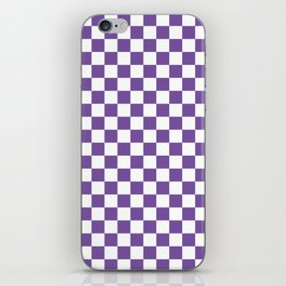 Purple Checkerboard iPhone Skin
