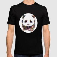 panda Mens Fitted Tee Black MEDIUM