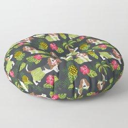 Basset Hound palm tree tropical dog breed pet friendly pet portraits aloha hawaii Floor Pillow