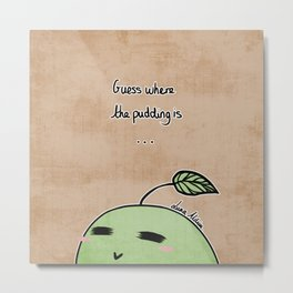 Pikmin Pudding - Where is the Pudding? Metal Print