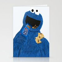 cookie monster Stationery Cards featuring Cookie Monster by Dano77