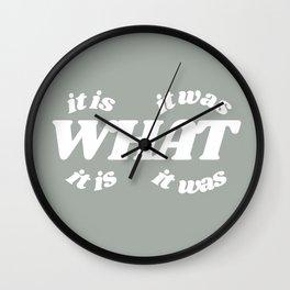 it is what it is it was what it was Wall Clock