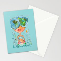 blue girl -- she's a gentle one. Stationery Cards
