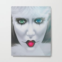 Harlequin Eyes Of A Different Color Metal Print