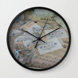 Blue Paris 2 Wall Clock