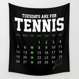 Tennis Players Tuesdays Tennis Trainer Wall Tapestry