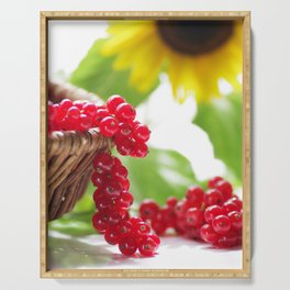 Red summer fruits image Serving Tray