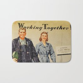 1942 Working Together Cover Bath Mat