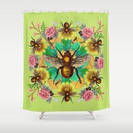 Bee Mandala Shower Curtain