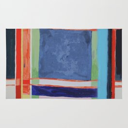 plaid abstraction Rug