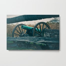 Artillery seen through a Fence Antietam National Battlefield Civil War Battleground Maryland Metal Print