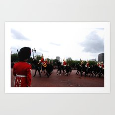 The Guards and Buckingham Palace 6 Art Print