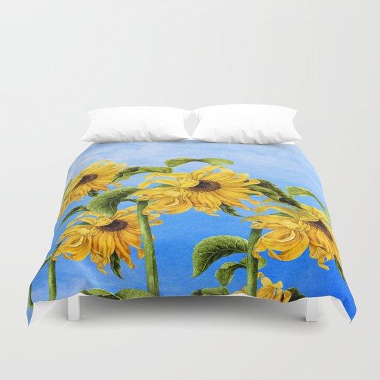 Where the Sunflowers Grow Duvet Cover