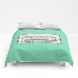 Roland TR-909 Rhythm Composer Vector Illustration Comforters