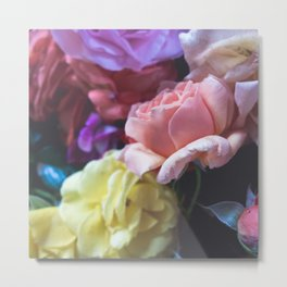 Pastel Flower Bunch Metal Print
