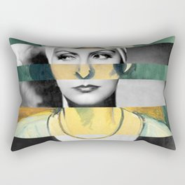 Matisse's Woman with a Turban & Greta Garbo Rectangular Pillow