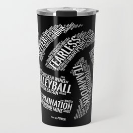 Volleyball Wordcloud - Gift Travel Mug