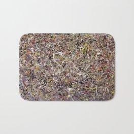 Intergalactic - Jackson Pollock style abstract painting by Rasko Bath Mat