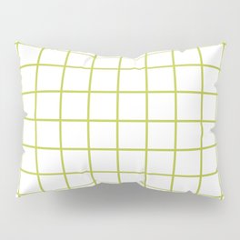 Grid Pattern Chartreuse Pillow Sham