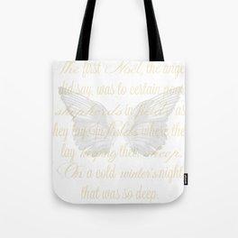 The First Noel angel wings Tote Bag