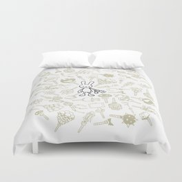 minima - beta bunny / gear Duvet Cover