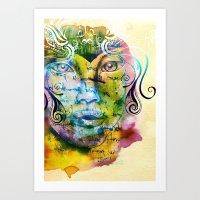 fairy tale Art Prints featuring Fairy Tale by Irmak Akcadogan