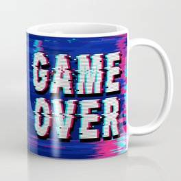 Game Over Glitch Text Distorted Coffee Mug