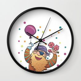 Partypirate Wall Clock